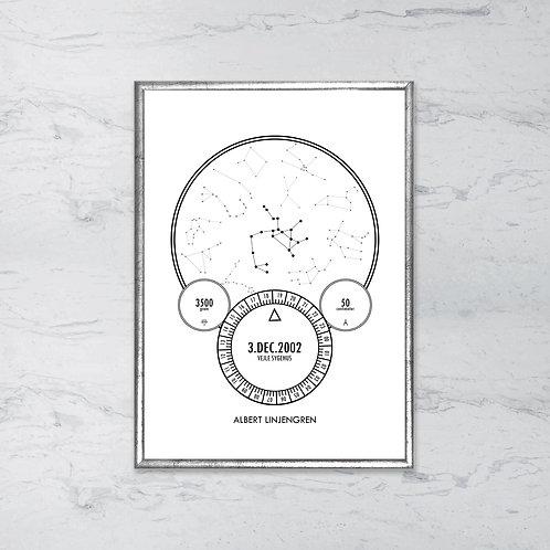 Fødselstavle - Skytten