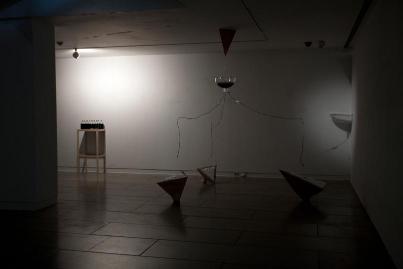 침투(infiltration), installation, mixed media, 2014