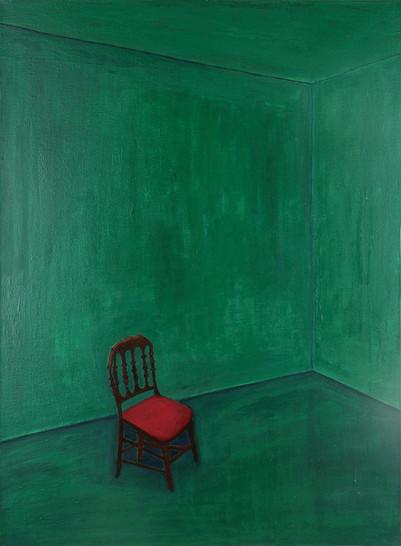 녹색의 방, 캔버스위에 유채, 73x53cm, 2016