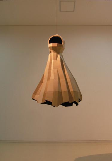 Void mantle, 75x80x140cm, Veneer, 2014