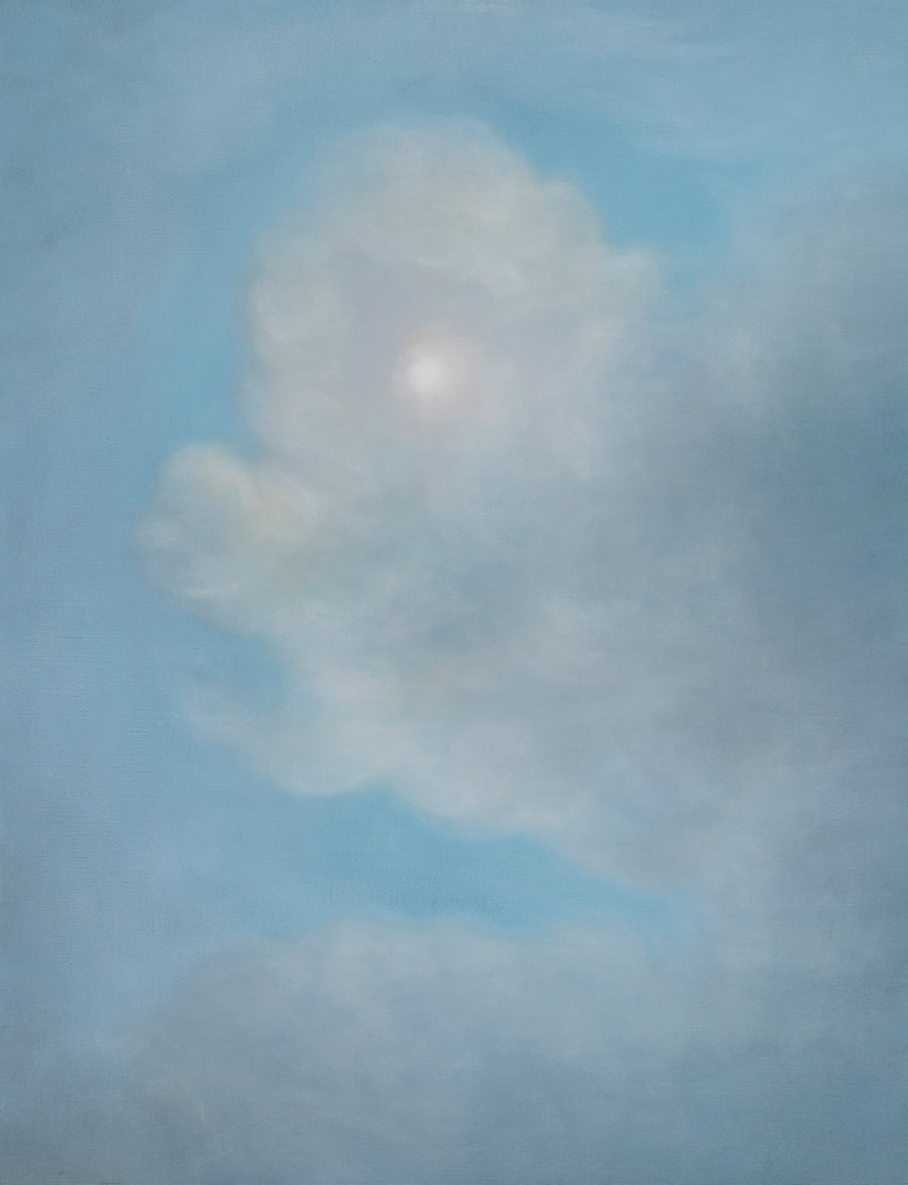 Open your eyes(sky), oil on canvas, 53x41cm, 2018