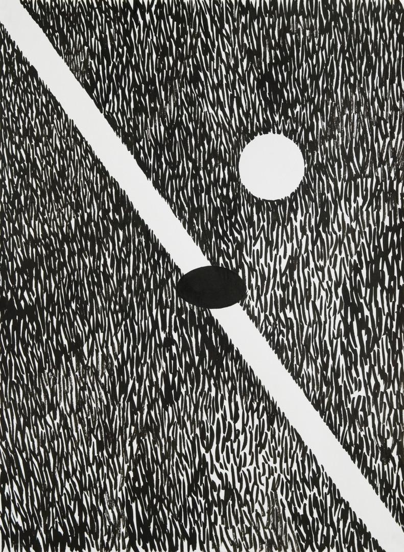 파울이냐페어냐, 켄트지에 먹, 39.5x39.5cm, 2016
