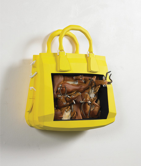 Bag-Impala, 46x42(cm), Veneer, mix media, 2012, 개인소장