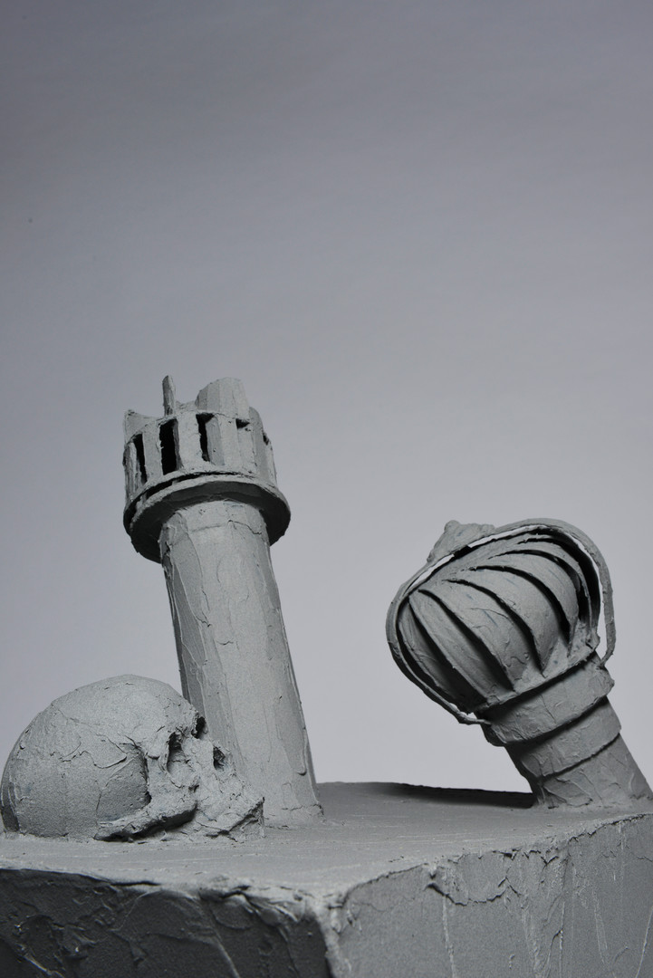 (2) Futile monument 2, detail