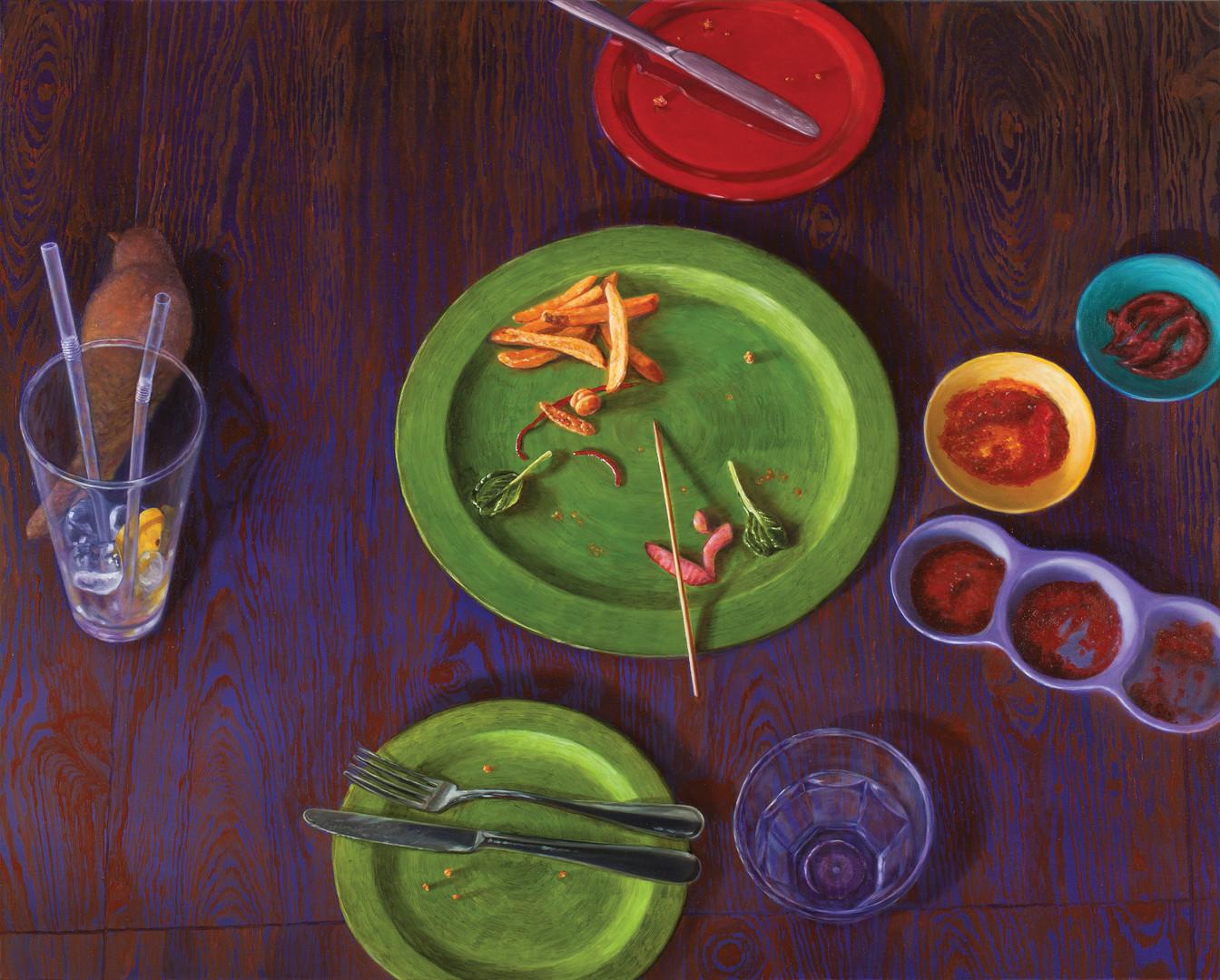 오후 세 시의 보라, 캔버스에 유채, 80.3×100cm, 2013