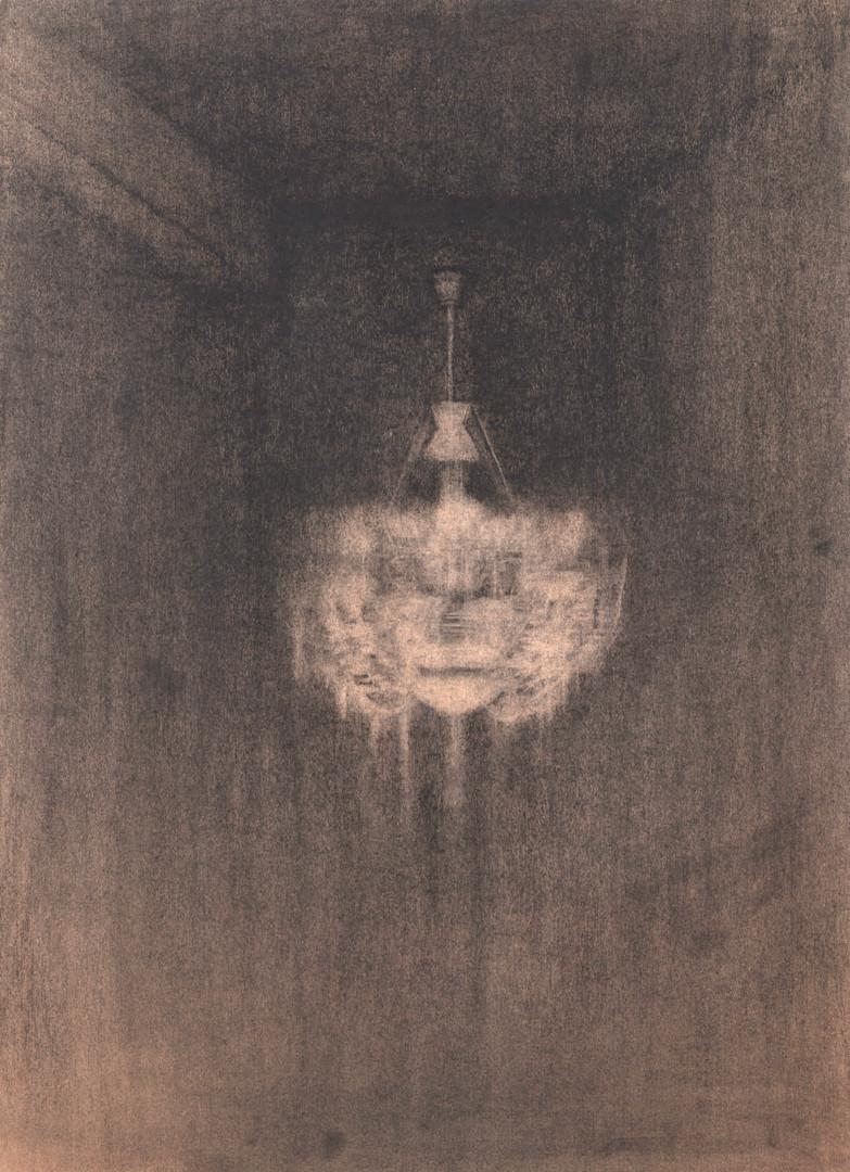 샹들리에, 크라프트지에 목탄,콘테, 109x79cm