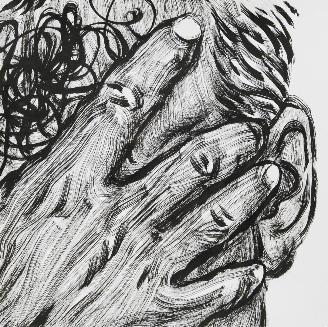 ㅇ ㅆ ㅂ, 39.4X39.4cm, 켄트지에 먹, 2016