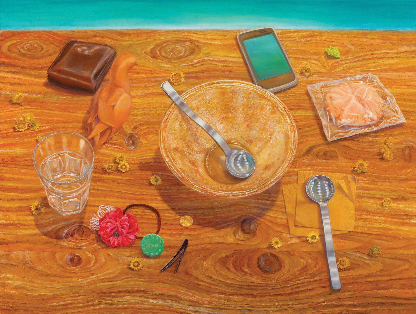 개구리 울음소리, 캔버스에 유채, 91×116.8cm, 2012