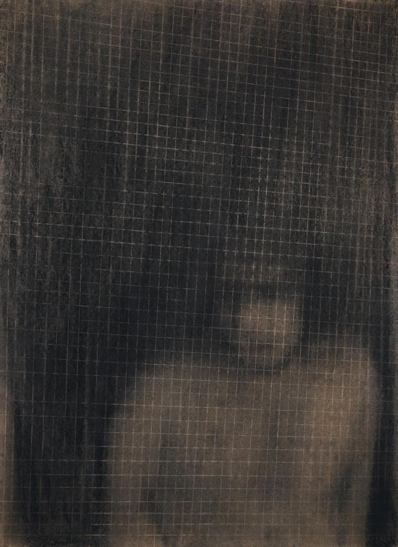 그림자가 되었을 때7-2, 크라프트지에 콘테,목탄, 109x79cm, 2018