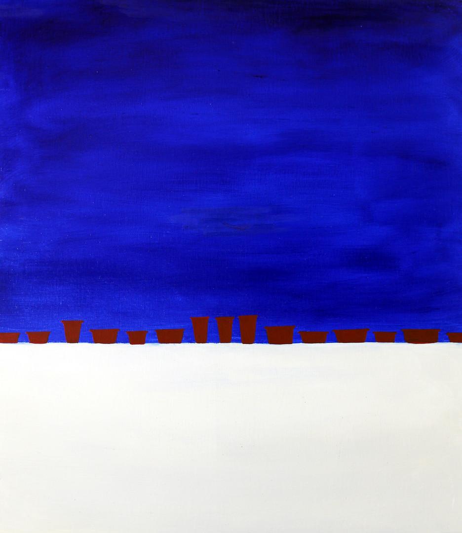 고무 다라이, 캔버스 위에 아크릴 물감, 61x45cm, 2013