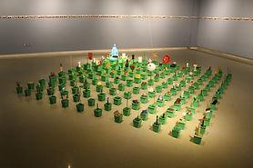[설치]사물의 정원, 혼합재료, 가변설치, 2017.JPG
