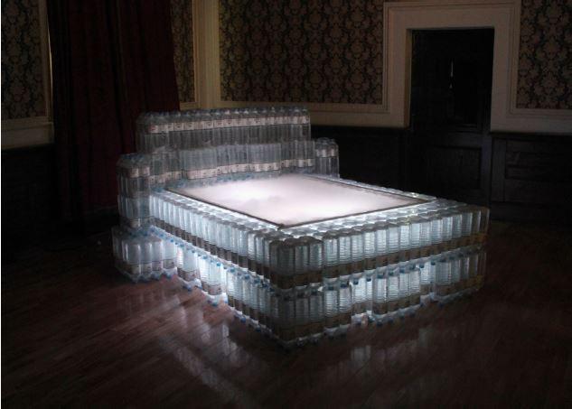 무거운 잠, 생수, 물공급장치, 방수천, led, 250 x 210 x 120cm, 2014