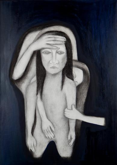 슬픔의 온도재기, 종이위에 오일파스텔 목탄, 65x45cm, 2012