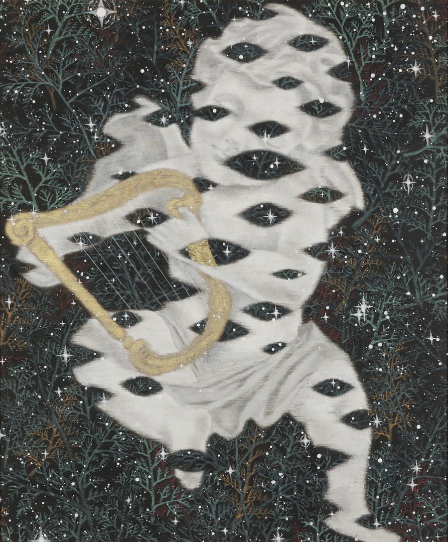 사라지는 아기천사 Ⅳ (Disappearing cherub), 73x61cm, 장지에채색, 2017