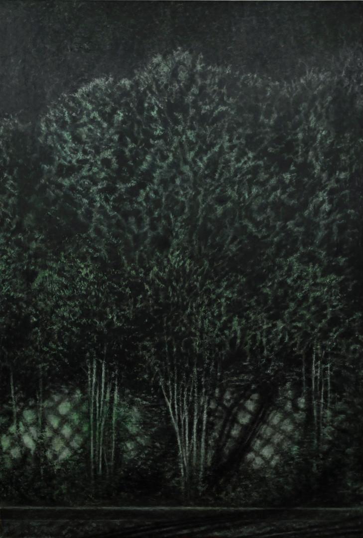 그림자가 되었을 때1-2, 장지에 채색, 혼합재료, 194X130cm, 2018