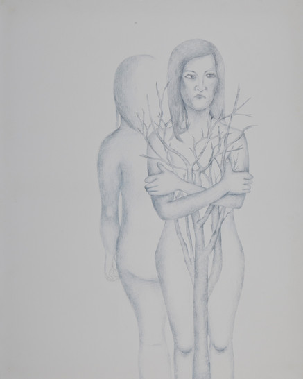멜랑꼴리적일기, 캔버스위에 펜, 100x80cm, 2011