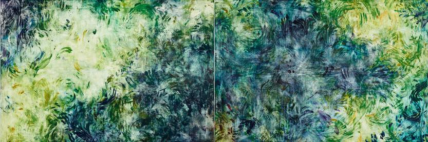 비우기 위해 필요한 시간, Oil on canvas, 130_388cm, 2015, 쉬즈메디병원