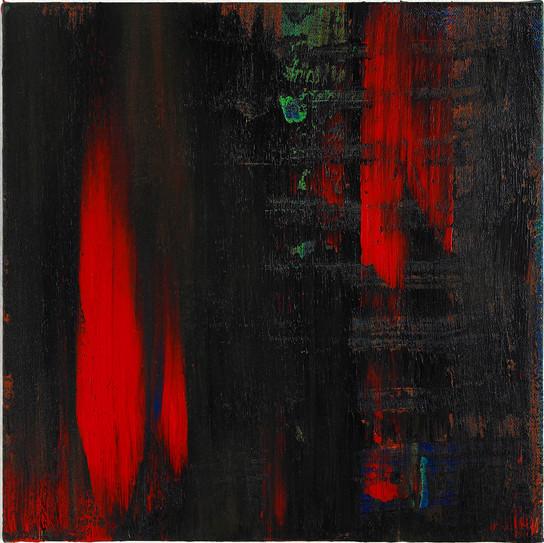 쓰기연습 1, acylic on canvas, 30x30cm, 2013