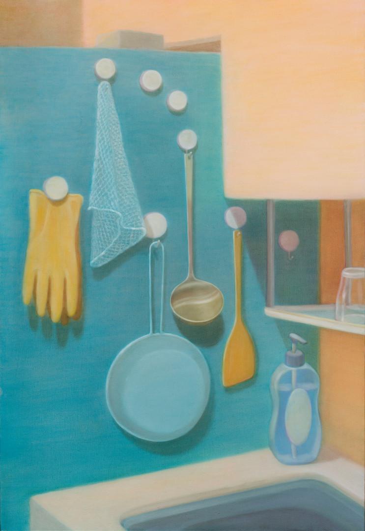 kitchen, oil on canvas, 72.8x50cm, 2017