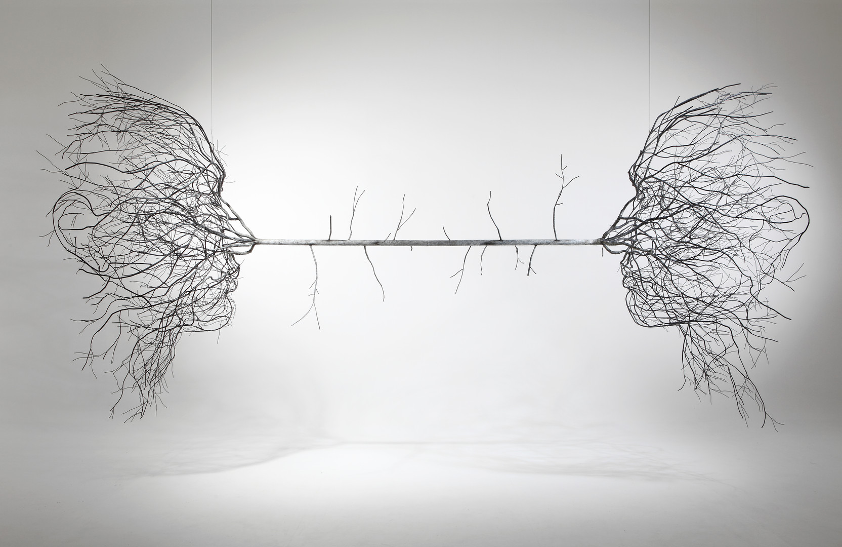 The vague truth, painted stainless steel, 215x480x110cm, 2016
