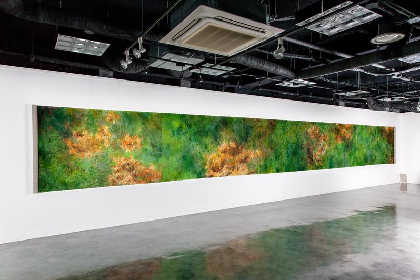 더불어 혼자 잘 사는 방법(Installation Cut), Oil on canvas, 134.5x1200cm, 2017