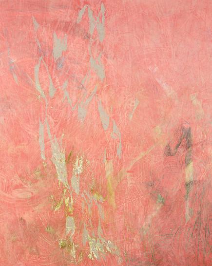 Flexible Mark (Crack) 02, Acrylic on canvas, 130×130 cm, 2018