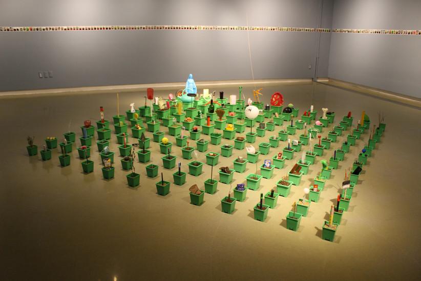 [설치]사물의 정원, 혼합재료, 가변설치, 2017