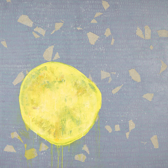 Flexible Mark (Crack) 01, Acrylic on canvas, 130×130 cm, 2018