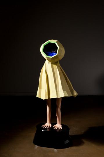 Modern child, 70x56x143(cm), Veneer, F.R.P, LED light, 2013, 개인소장