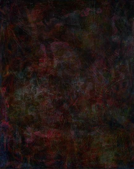 Flexible Mark (Weight) 02, Oil on canvas, 162x130cm, 2017