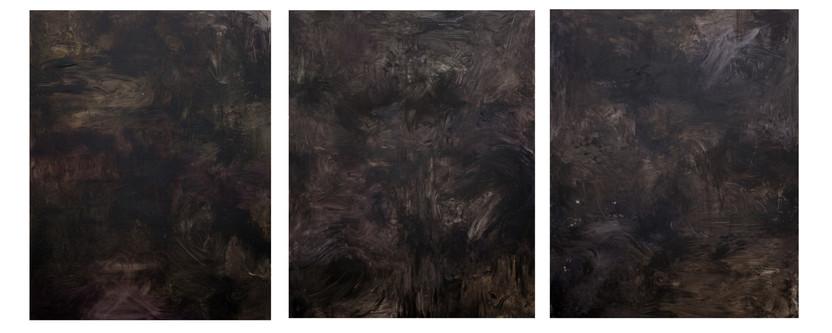 엄마와 싸운 날, Oil on canvas, 117_273cm, 2015
