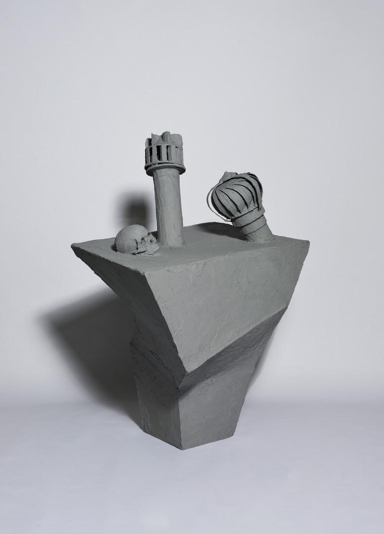 Futile monument 2, mixed media, 139x111x63cm, 2016