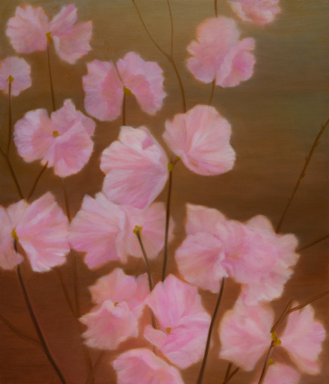 진달래, oil on canvas, 53x45.5cm, 2018