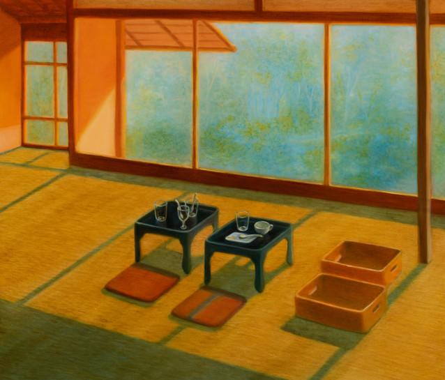 Tea room, oil on canvas, 45.5x53cm, 2018