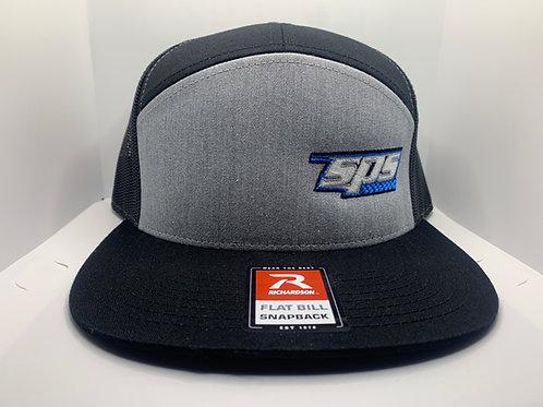 SPS Flatbill Snapback Hat Blk/Grey 21