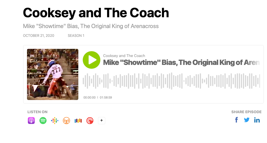"""Cooksey Talks To Mike """"Showtime"""" Bias, The Original King of Arenacross"""