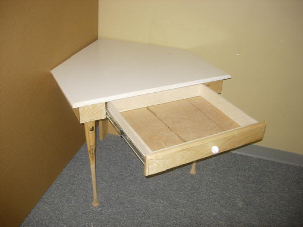 Home Plate Desk Open