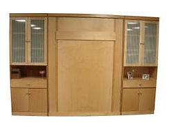Euro Murphy bed with bookcases