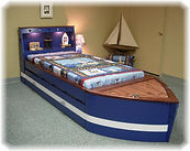 bed in a nautical them