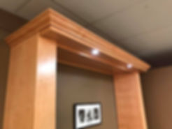 Lights that protrude past the face of the Murphy bed