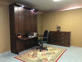 FLW Murphy wall bed shown with the bed closed up.