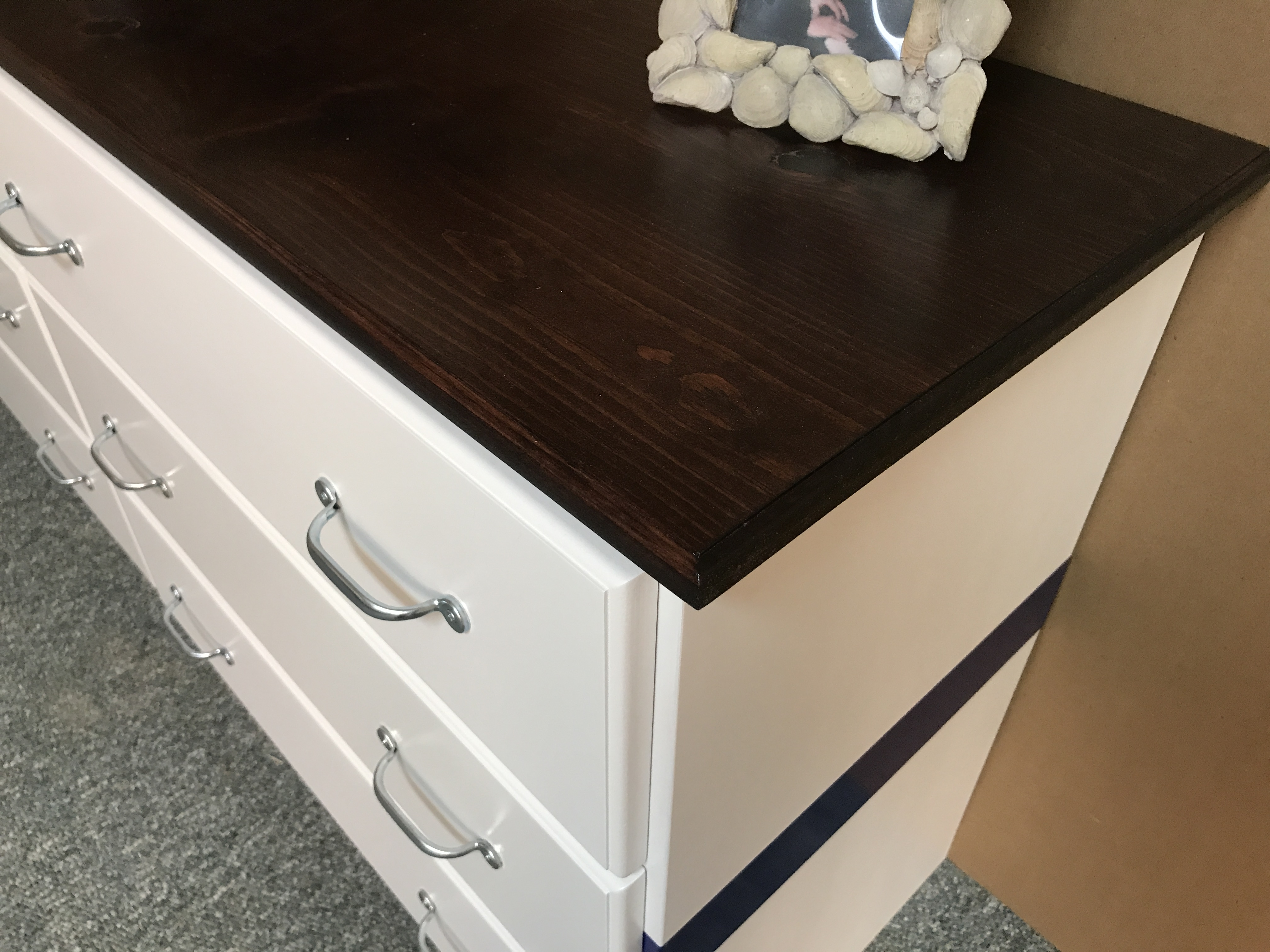 Nautical Dresser White and Blue