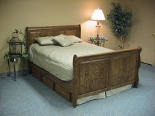Sleight bed built in oak