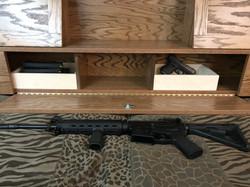 Secret Hidden Gun Storage Headboard