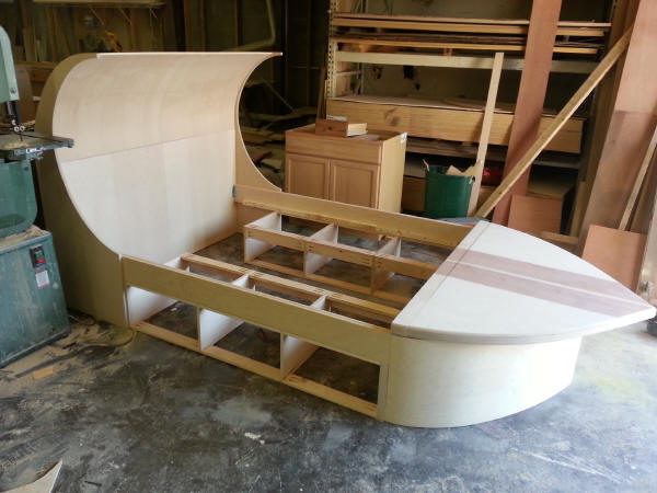 Surfboard Bed Building picture 2