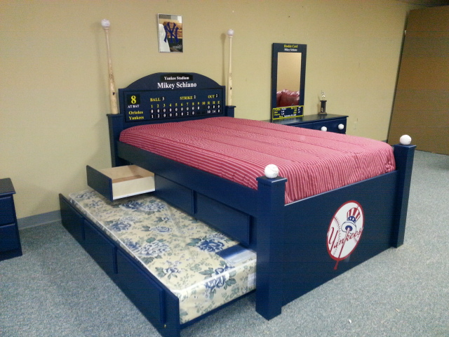 Baseball Bed Drawers, Trundle, Logo