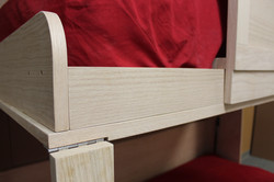double bunk twin murphy bed oak det
