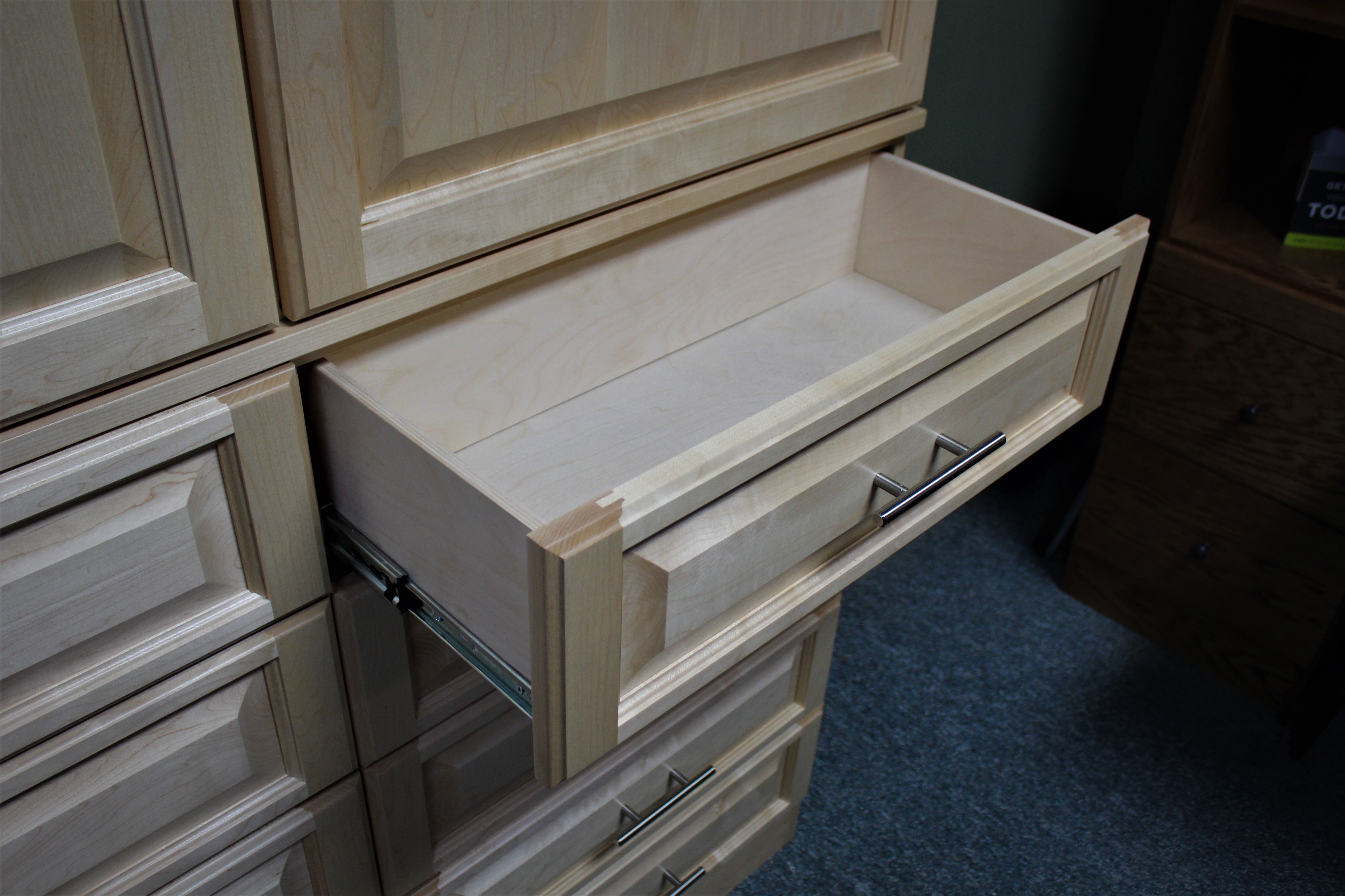 Maple Cabinet Drawers