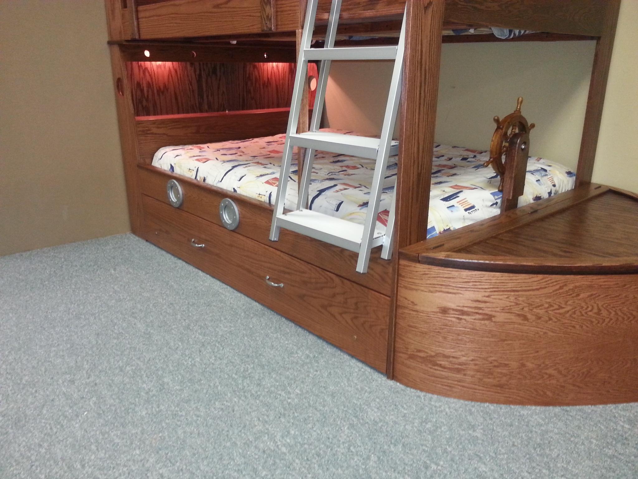 Lower boat bunk