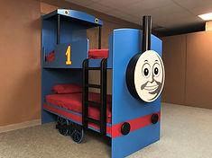 A bunk with Thomas the train theme.
